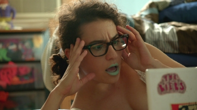 Screencap of Ilana from Broad City staring, open-mouthed, at her computer screen. You can't see what's on-screen.